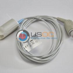 OXY-F4-N, PR-A520-1005 Datex Ohmeda (Female 10-pin Datex) SPO2 Adult Hard Shell Sensor 10 ft. OEM Compatible.