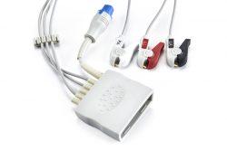 989803171811 Philips 3 Leadwire ECG+ SPO2 Pinch Grabber for MX40 OEM Compatible.