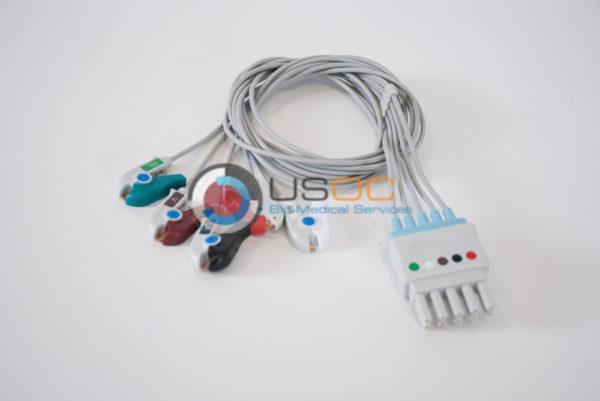 700-0006-10, 700-0006-08 Spacelabs 5 Leadwire ECG Pinch, Grabber OEM Compatible.