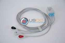 700-0007-00 Spacelabs 3 Leadwire ECG Snap OEM Compatible.