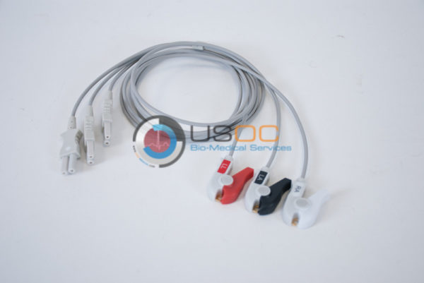 700-0006-02 Spacelabs 3 Leadwire ECG Pinch, Grabber 3 ft. OEM Compatible.