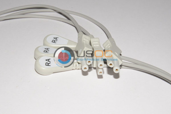 012-0498-03 Spacelabs ECG Single Leads, White RA/06M/ Snap OEM Compatible.
