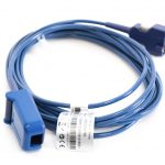 B400-1011B, WA-DOC-10, M4780A Beta Biomed (Male, DB 14-pin Purple) SPO2 Extension Adapter Cable 10 ft. OEM Compatible.