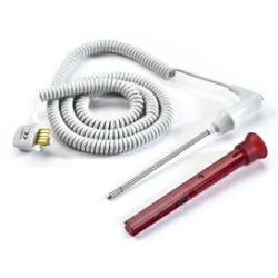 02895-100 Welch Allyn Rectal Temperature Probe 9 ft Red OEM New. OEM Part Number: 02895-100