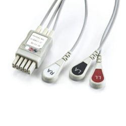 0013-00-1503-06 Mindray Datascope 3 Leadwire ECG Snap for Panorama 3 ft. OEM Compatible.