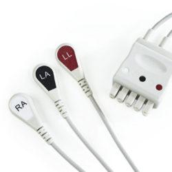 416467-004, 411203-001 GE 3 Leadwire ECG Snap APEX PRO CH OEM Compatible.