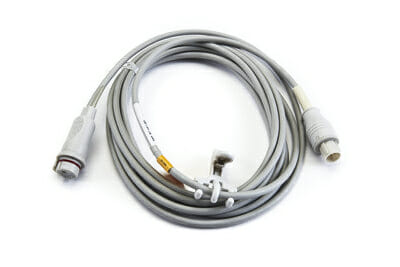 684090 Nihon Kohden IBP Adapter Cable (Male, 5 pin 13 ft) to BD Connector OEM Compatible.