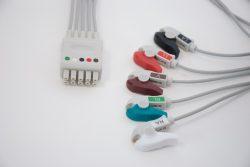 Datex Ohmeda 5 Leadwire ECG Grabber, Pinch OEM Compatible OEM 545318 , USOC# USOC545318