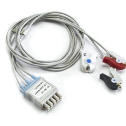 412682-001, 164L0027 GE 3 Leadwire ECG Grabber, Pinch for Apex Pro CH OEM Compatible.