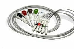 012-0285-00, 012-0605-00, 012-0285-01, 008-0322-00, 0012-00-0622-05 Spacelabs 5 Leadwire ECG Snap Din Style Set AHA 0.6M OEM Compatible.