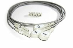 012-0295-11 Spacelabs ECG Single Lead Din Style, White, RA 0.6m Snap OEM Compatible.