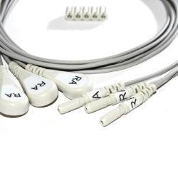 012-0295-12 Spacelabs ECG Single Lead Din Style, White, RA/1.0M/Snap OEM Compatible.