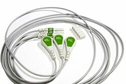 012-0295-32 Spacelabs ECG Single Lead Din Style, Green, RA/1.0M/ Snap OEM Compatible.