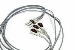 012-0295-42 Spacelabs ECG Single Lead Din Style, Brown, RA/1.0M/ Snap OEM Compatible.