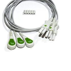 012-0498-01 Spacelabs ECG Single Leads, Green RL/0.6M/Snap OEM Compatible.