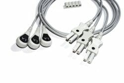 0124-0498-04 Spacelabs ECG Single Leads, Black la/0.6M/Snap OEM Compatible.