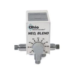 6750-0025-907 Ohio Medical High/Low Oxygen Blender (3 Ports) Refurbished.