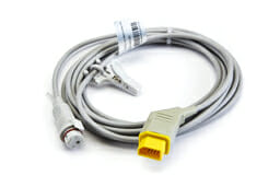 JP-900P Nihon Kohden IBP Adapter Cable (Male, 12 pin 13 ft) to BD Connector OEM Compatible.