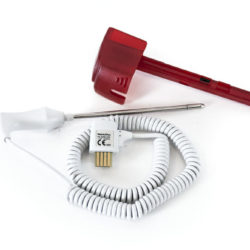 02892-000 Welch Allyn Rectal Temperature Probe and Well Assembly 4 ft Red For SureTemp Plus 690/692 Electronic Thermometer OEM New.