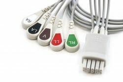 Datex Ohmeda 5 Leadwire ECG SNAP OEM Compatible. OEM Part Number: 545328